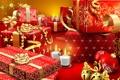 Картинка Новый год, свечи, подарки