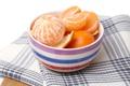 Картинка чашка, цитрусы, дольки, мандарины