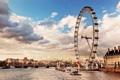 Картинка city, Лондон, колесо обозрения, skyline, London, Thames River, река Темза