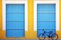 Картинка велосипед, дом, улица