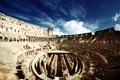Картинка небо, облака, люди, Рим, Колизей, Италия, руины