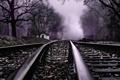 Картинка Ghost Tracks, пейзаж, дорога