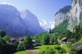 Картинка альпы, швейцария, лаутербрюнен