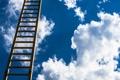 Картинка облока, фон, лестница, небо