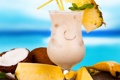 Картинка кокос, summer, ананас, beach, fruit, cocktail, tropical