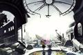 Картинка город, аниме, руины
