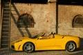 Картинка здание, старое, F430, Ferrari, желтая, Spider