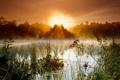 Картинка пейзаж, туман, озеро
