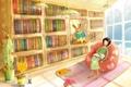Картинка комната, отдых, кресло, библиотека