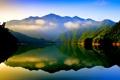 Картинка лес, Ontario, Канада, небо, облака, Онтарио, озеро