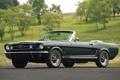 Картинка деревья, Mustang, Ford, Форд, зелёный, Мустанг, кабриолет