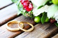 Картинка букет, обручальные кольца, цветы