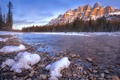 Картинка ice, rock, water, lake, snow, castle mountain