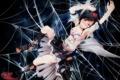 Картинка девушка, кровь, паутина, арт, touhou, shameimaru aya, s-syogo