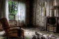 Картинка телевизор, кресло, комната