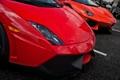 Картинка оранжевый, красный, Lamborghini, gallardo, aventador, ламборгини, авентадор