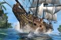 Картинка море, корабль, Эдвард Кенуэй, Assassin's Creed IV: Black Flag