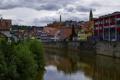 Картинка город, река, дома, канал, Швеция