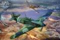 Картинка самолет, Messerschmitt, Spitfire, aviation, авиа, MMO, Wargaming.net