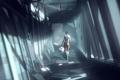 Картинка Chell, арт, Portal, девушка, игра, Glados