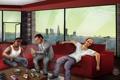 Картинка город, дом, америка, Майкл, лос анджелес, фан арт, Grand Theft Auto V