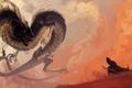 Картинка взгляд, фантастика, дракон, арт, пасть, хвост