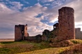 Картинка трава, свет, фото, замок, города, стена, стены