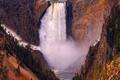 Картинка скалы, вид, водопад, национальный парк