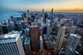 Картинка закат, город, Чикаго, США, By Christopher.F Photography