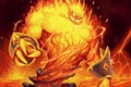 Картинка огонь, карта, существо, арт, лава, WoW, World of Warcraft