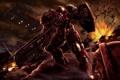 Картинка оружие, взрывы, корабли, бой, десант, Starcraft, выстрелы