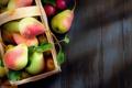 Картинка wood, pears, basket, wicker