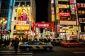 Картинка люди, улица, неон, Япония, Токио, автомобили, магазины