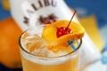 Картинка лед, оранжевый, вишня, напитки, коктейли, orange, cherry