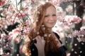 Картинка весна, сад, девочка
