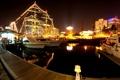 Картинка вода, свет, ночь, огни, отражение, корабли, яхты
