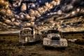 Картинка небо, пейзаж, машины