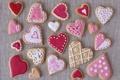 Картинка праздник, печенье, сердечки, выпечка, hearts, valentines, глазурь