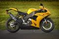 Картинка газон, мотоцикл, профиль, суперспорт, bike, yellow, EBR