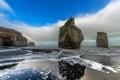 Картинка море, скалы, берег, радуга