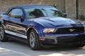 Картинка асфальт, синий, отражение, Ford, mustang