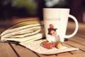 Картинка макро, ягоды, чашка