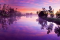 Картинка небо, закат, отражение, река