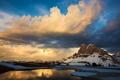 Картинка небо, озеро, гора