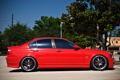 Картинка бмв, BMW, профиль, red, красная, E46, 3 серия