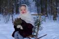 Картинка милая, девочка, маленькая, в платке