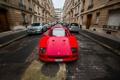 Картинка машины, город, Ferrari, Red, F40, передок, Supercar