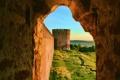 Картинка пейзаж, wallpaper, древний город, башня, крепость, город, обои