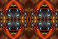 Картинка абстракция, лицо, узор, цвет
