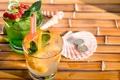Картинка стакан, фон, отпуск, коктейль